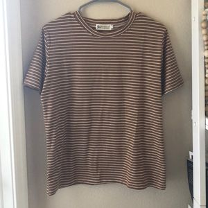 cognac & white striped tee, ASOS. never been worn